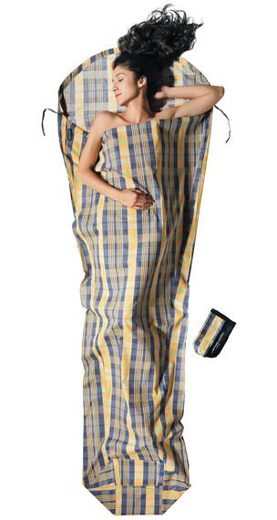 Cocoon MummyLiner Slaapzak Cotton beige/blauw